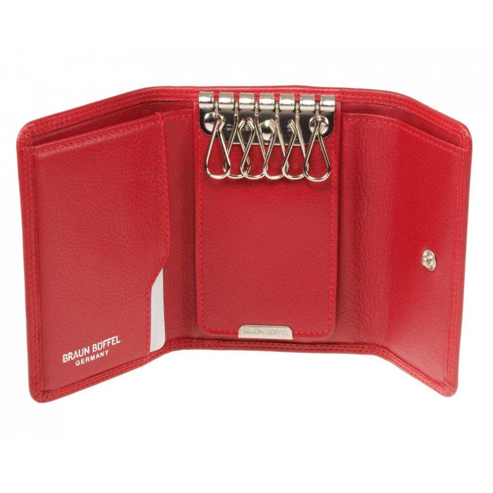 Braun Büffel Schlüsseletui 92001-051-080 Rot mit Geldb&ouml