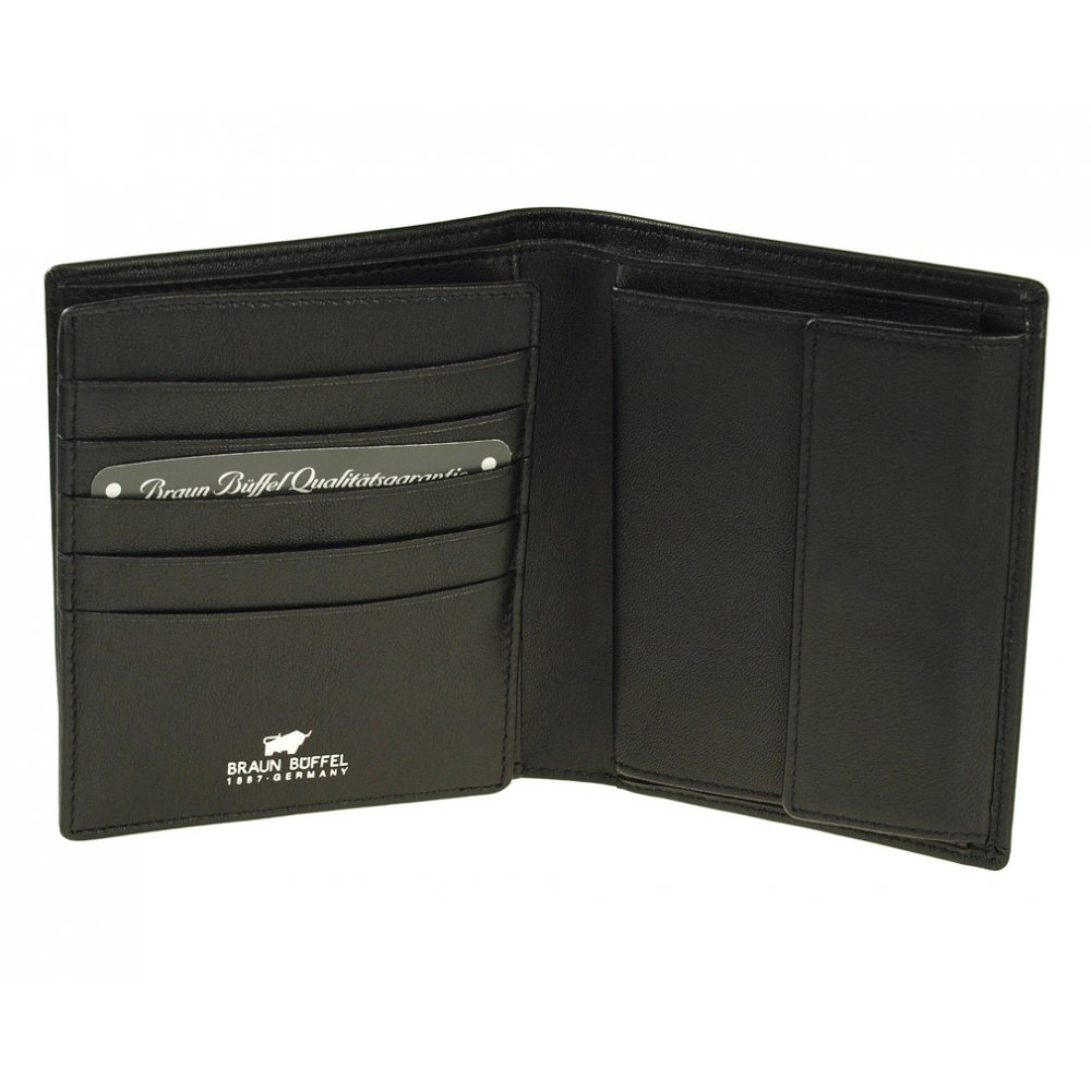 Braun Buffel 92466 Leather Travel Card Holder Black Card