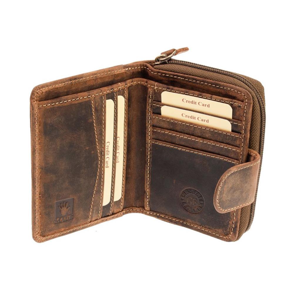 Greenburry Vintage 1792-25 Damen Leder Portemonnaie Geldbörse mit Münzfach