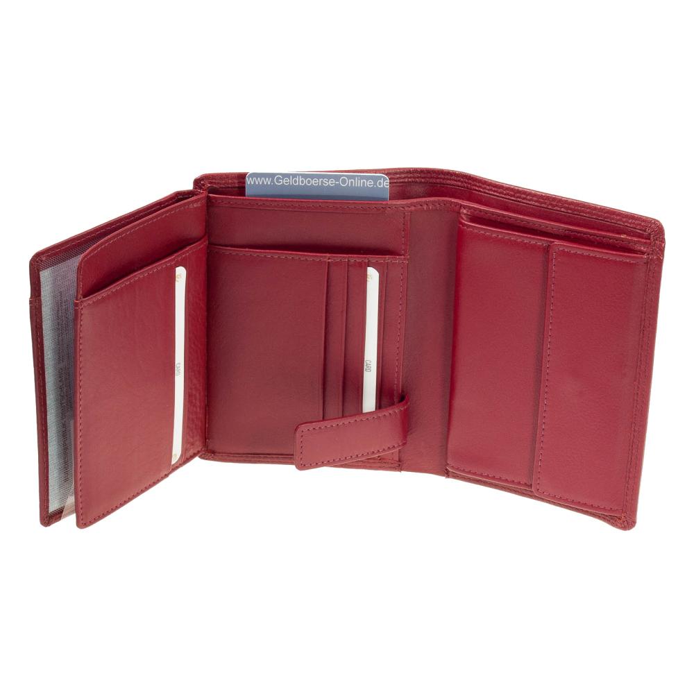 f60ce2a5812b1c Esquire Duo Leder Geldbörse 0484-59 Rot Geldbeutel - Geldboerse Onlin,  39,95 €