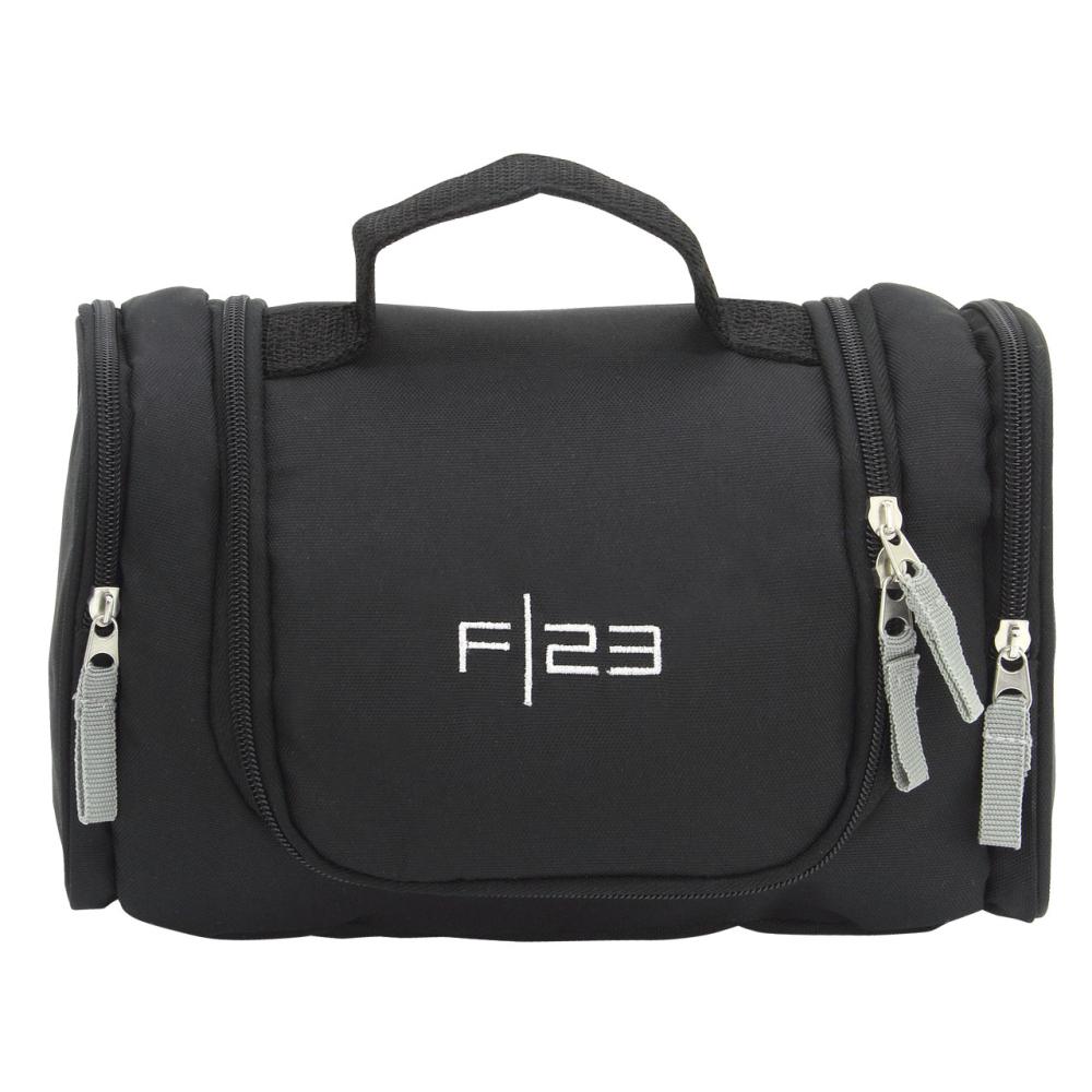 Kulturtasche Waschtasche Kosmetiktasche mit Nassfach schwarz F23