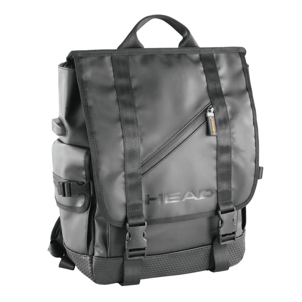 head jump rucksack mit laptopfach lkw plane schwarz. Black Bedroom Furniture Sets. Home Design Ideas