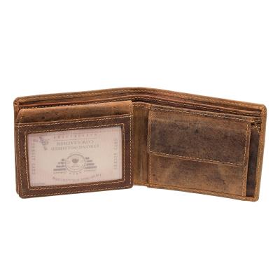63cf80055deba Greenburry Vintage Leder Geldbörse 1676-25 Geldbeutel Portemonnaie Braun ...