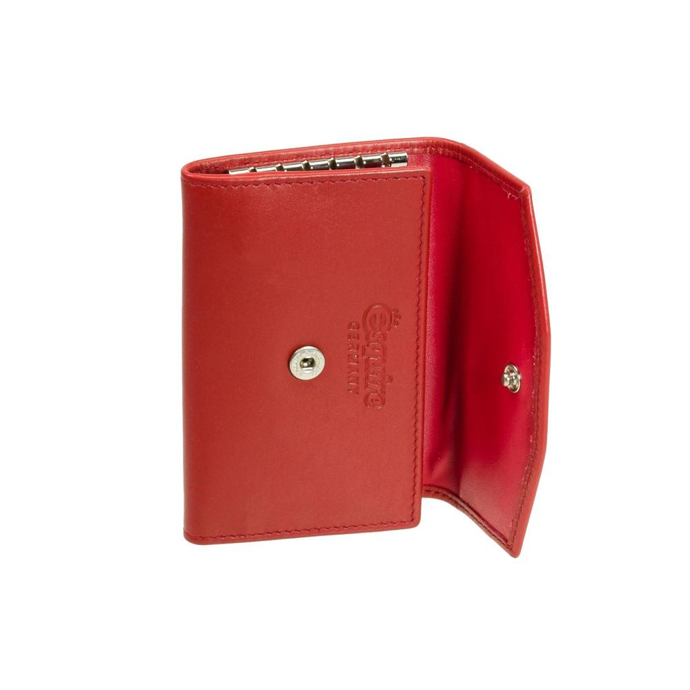57e6941248277 Schlüsseletui aus Leder Esquire Silk Schlüsseltasche Rot - Geldboerse