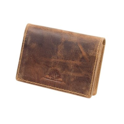 Greenburry Vintage Leder Kreditkartenetui Visitenkartenetui Braun