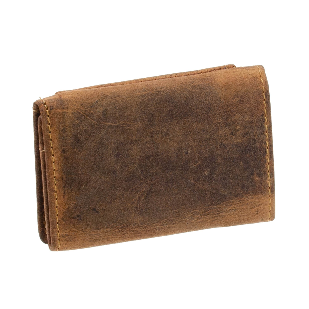 Greenburry Vintage Geldbeutel mit Kette Lederbörse Portemonnaie Lederbörse braun