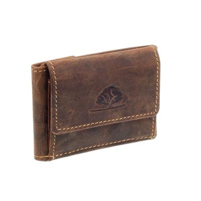 a01a1e92364c4 Greenburry Vintage Leder Minibörse kleine Geldbörse Mini Geldbeutel Braun  ...