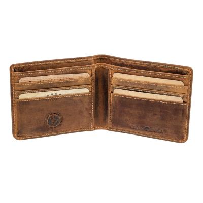 3c086eb4d6938 Greenburry Vintage Leder Kreditkartenetui mit Scheinfach Brieftasche Braun  ...