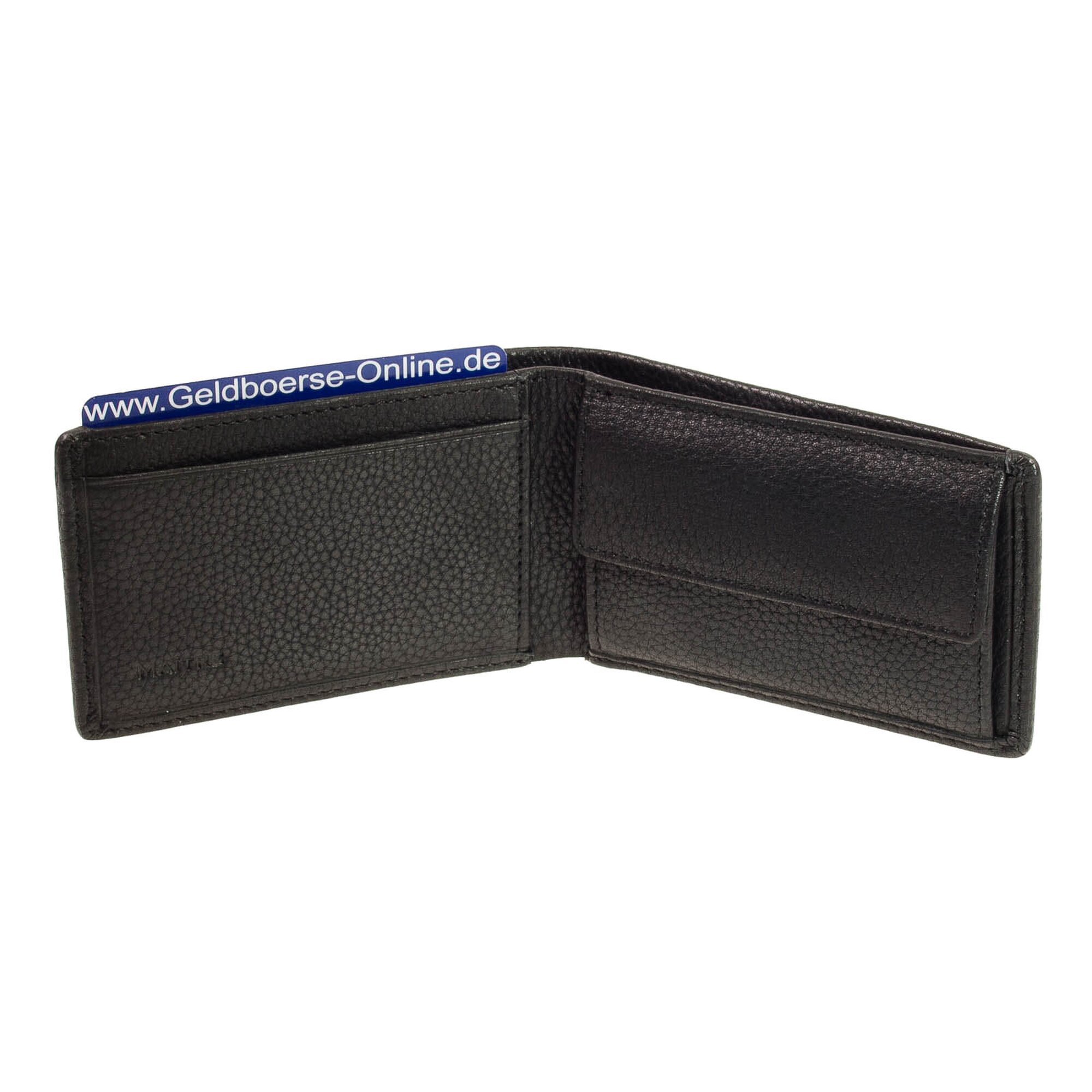 Maître Abtweiler Gathman Geldbörse Portemonnaie Herren Leder 12 cm black