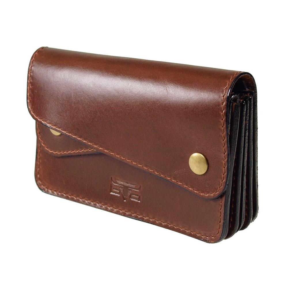 Große Geldbörse von MIKA, 280588 02 Sattelleder Braun